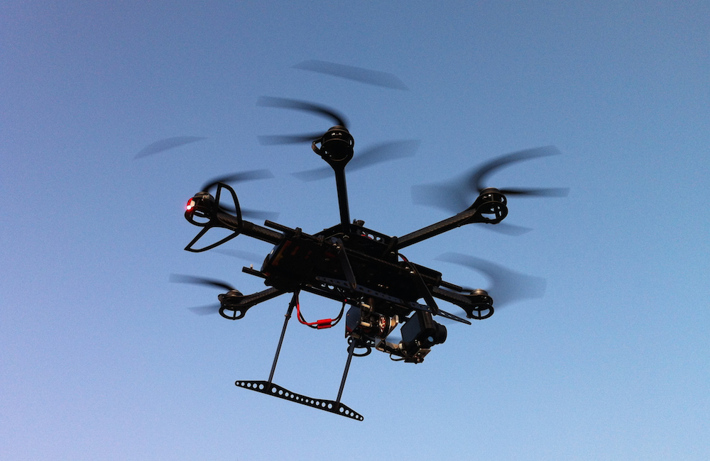 Hexacopter in action